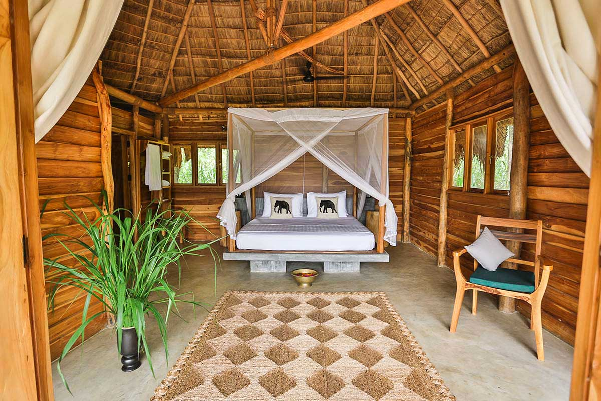 Stunning Bedroom View Gal Oya Lodge