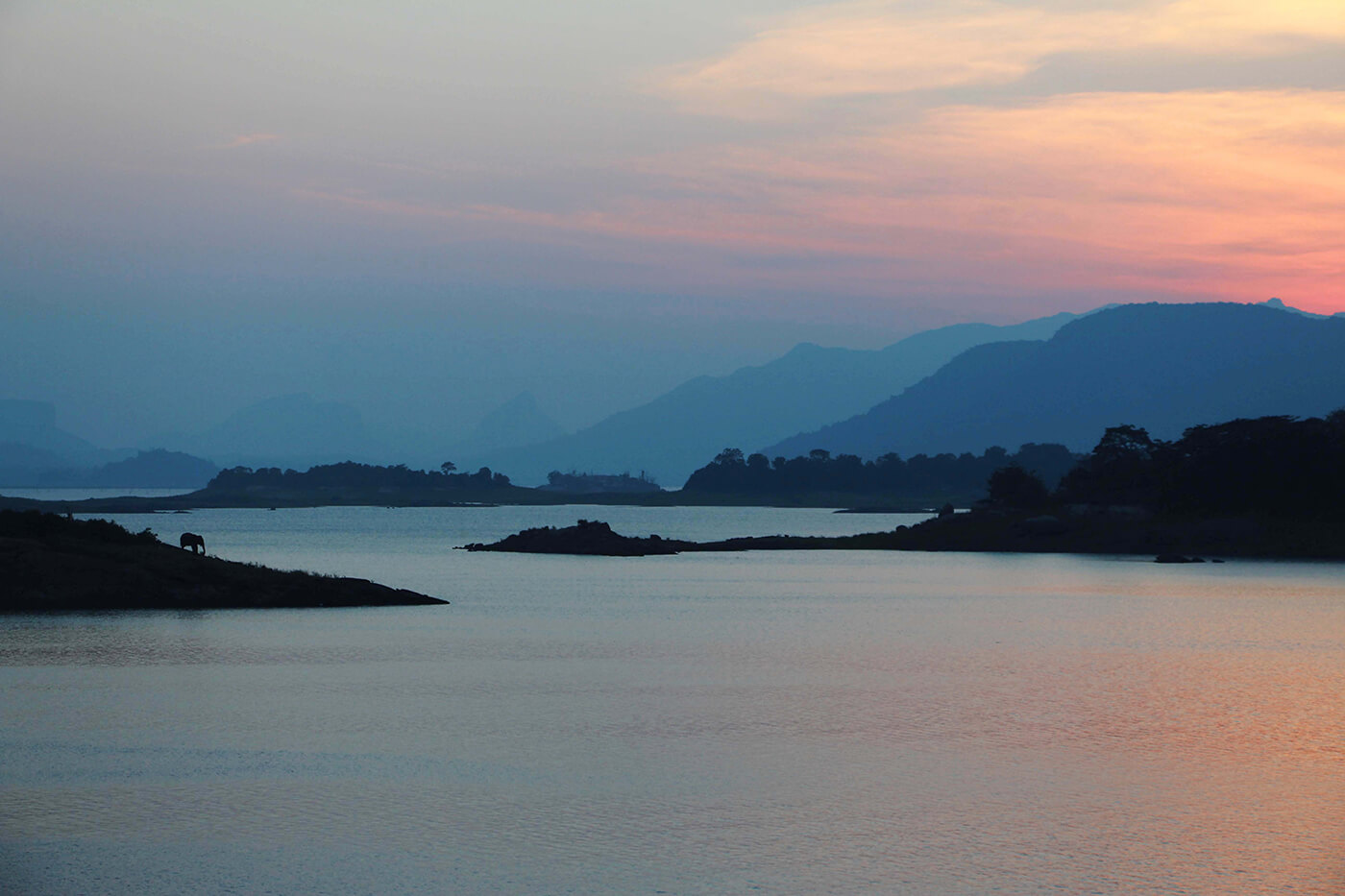 Senanayake Samudra Lake in Sri Lanka